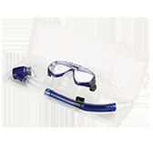 Kit Silicone Prata : Azul